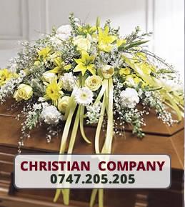 Aranjamente florale funerare sicriu Galati